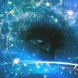 Eyes of the Universe, abstract environmental backgrounds — Stock Photo