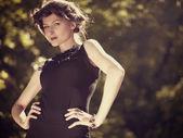 Retro revival. Old fashioned female portrait — Stock Photo