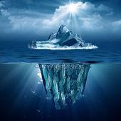 冰山。您设计的的抽象的生态背景 — 图库照片
