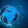 Stock Photo: Global internet communications, abstract techno backgrounds