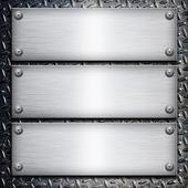 Szczotkowanej blachy stalowej na metalowe czarne tło do projektowania — Zdjęcie stockowe