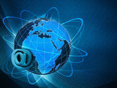 Global internet communications, abstract techno backgrounds — Stock Photo