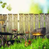 在农场,抽象的环境背景 — 图库照片