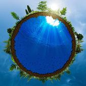 Green world, abstract environmental concept for your design — Stock Photo