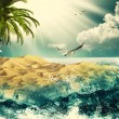 Beauty Ocean, beauty natural backgrounds for your design — Stock Photo #26523753