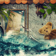 Time to say Goodbye! Abstract touristic backgrounds — Stockfoto