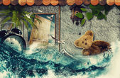 Time to say Goodbye! Abstract touristic backgrounds — Stock Photo