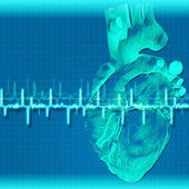 Abstract health and medical backgrounds with human heart — Stock Photo