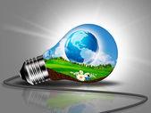 Sustainable Development and eco energy concept — Stock Photo