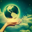 Whole world in your hands, environmental backgrounds — Stock Photo #29700685