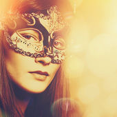 Carnival, Abstract female portrait for your design — Stock Photo