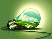 Conceito de energia renovável para seu projeto — Fotografia Stock