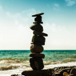 Pebble tower, abstract marine still life for your design — Stock Photo #31172301