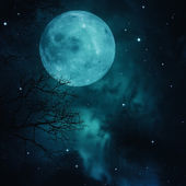 Full Moon on the skies, abstract natural backgrounds — Stock Photo