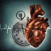 Il tempo è scaduto! salute sgangherata e sfondi medicale — Foto Stock