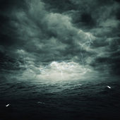 Stormy ocean, abstract natural backgrounds — Stock Photo