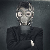 Biohazard. Apocalyptic male portrait for your design — Stock Photo