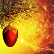 Abstract Christmas backgrounds with beauty lights and bokeh — Stok fotoğraf