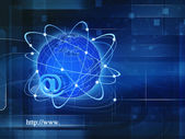 Global Information Society, abstract techno backgrounds — Stock Photo
