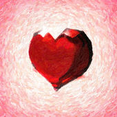 Crystal heart. Abstract oil painted valentine backgrounds — Stock Photo