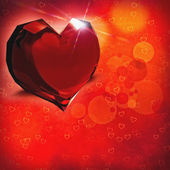 Crystal heart. Abstract valentine backgrounds for your design — Stock Photo