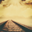 Railroad through the dead valley — Stock Photo #40209689