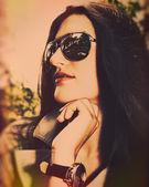 Female portrait for your design — Stock Photo