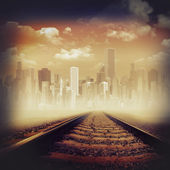 Road to the city. — Stock Photo