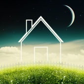 Eco House Concept. Abstract environmental backgrounds — Stock Photo