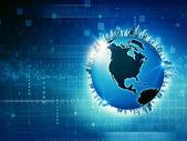 Global Media background — Stockfoto