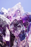 Purple amethyst stone — Stock Photo