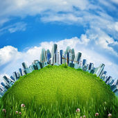 Eco City, abstract environmental backgrounds — 图库照片