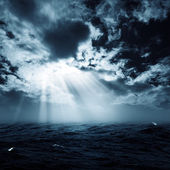 New hope in the stormy ocean — Stock Photo