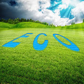 Eco meadow, abstract environmental backgrounds — Stock Photo