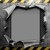 Industrial torn steel plate — Stock Photo