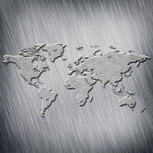 Steel Earth map — Stock Photo