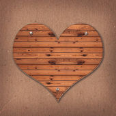 Wooden Heart shaped sign — Stockfoto
