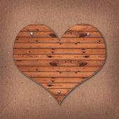 Wooden Heart shaped sign — ストック写真