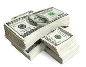 Stack of american dollars — Stock Photo