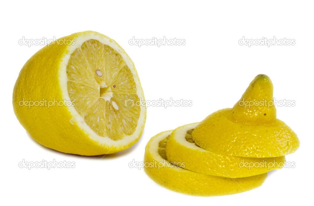 白底黄色柠檬 — 图库照片08vovan13#13587058