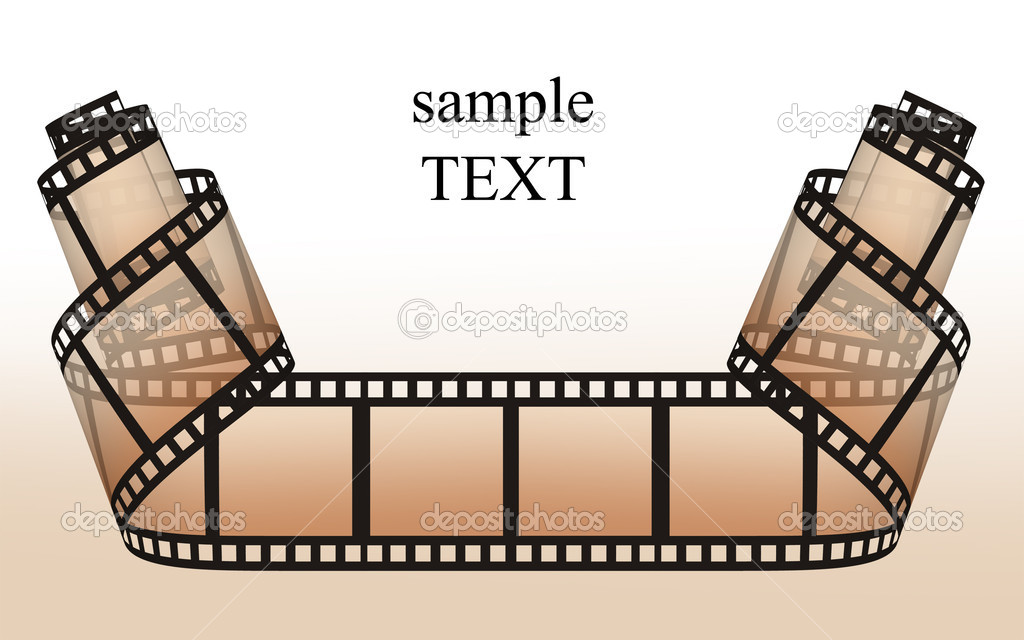 Filmstrip on the white backgrounds — Stock Photo #13876748