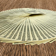 Stock Photo: Dollars seamless background.