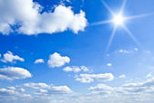Nature background. white clouds over blue sky — 图库照片