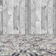 Big pile of money. stack of american dollars on the wood backgrounds — Stock Photo
