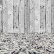Stock Photo: Big pile of money. stack of americdollars on wood backgrounds