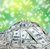 Big pile of the money. dollars usa — Stock Photo