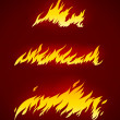 Burning flame of fire vector silhouette — Stock vektor
