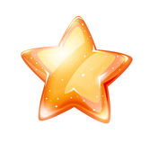 Magic gold glossy star isolated — Stock Vector