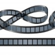 Twisted film reel isolated — Imagen vectorial