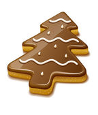 Christmas biscuit in form of christmas tree — Stock Vector